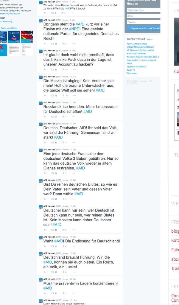 AfD Hessen und Twitter - was war denn bitte schön da los