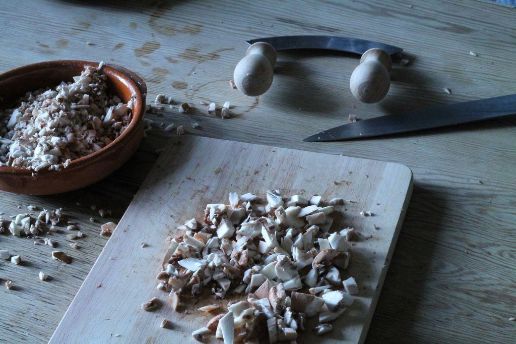 Champignons werden für das Pilz Pesto benötigt