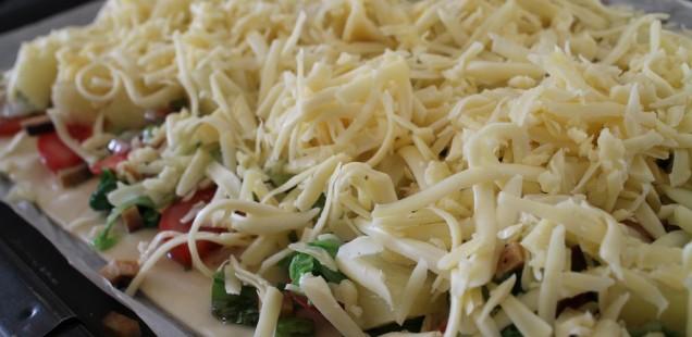 Chinakohl Pizza vegetarisch