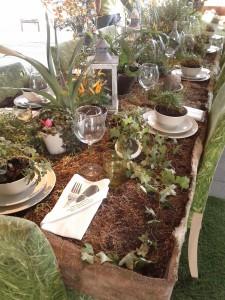 Der grüne Esstisch auf der Floriade 2012 in Venlo