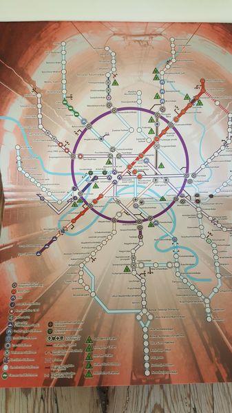 Metroplan in Metro 2033 von Dmitry Glukhovsky