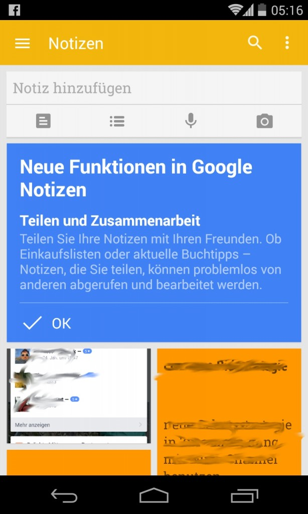 Neue Google Keep Teilen Funktion wurde heute freigeschaltet