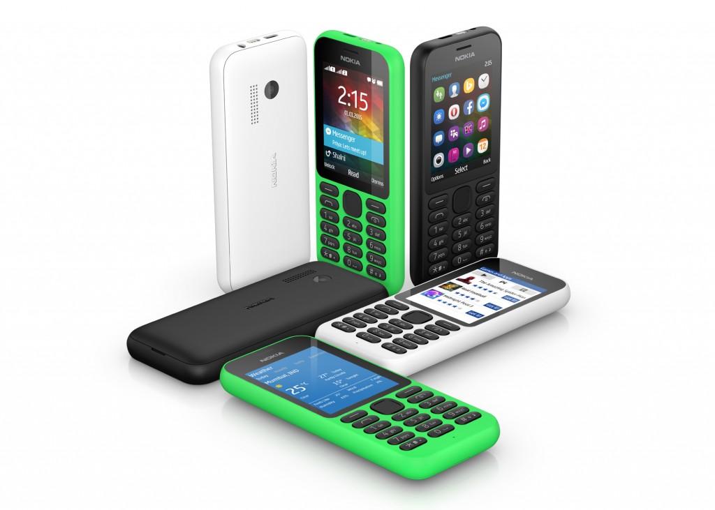 Nokia 215 Handys in vielen Farben