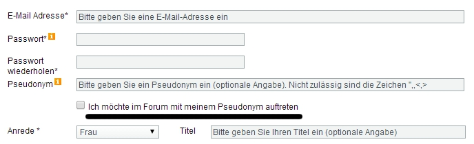 Online Petition Bundestag im Forum anonym mitsprechen