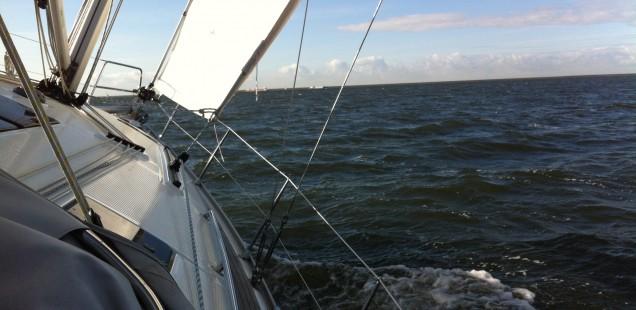 Segeln am Ijsselmeer 2012 - Schräglage