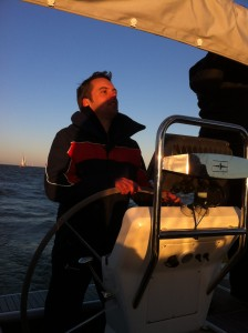 Segeln am Ijsselmeer - dem Sonnenuntergang entgegen