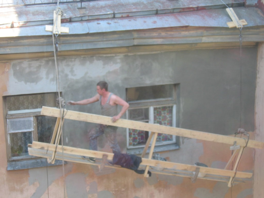 St. Petersburg Städtereise - Bauarbeiter