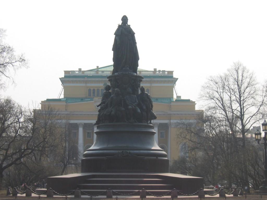 St. Petersburg Städtereise - Katharina Statue
