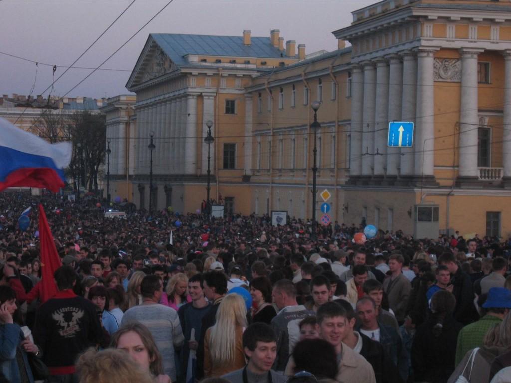 St. Petersburg Städtereise - Tag des Sieges an der Eremitage