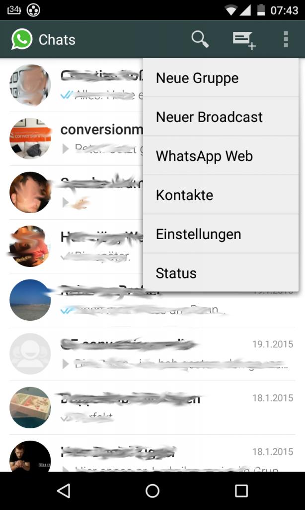 WhatsApp - Menü - WhatsApp Web