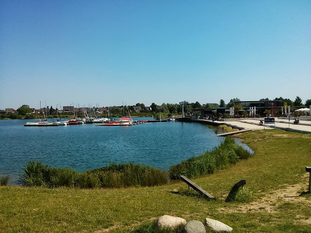 Xanten Ausflug: Xantener Südsee vom Parkplatz