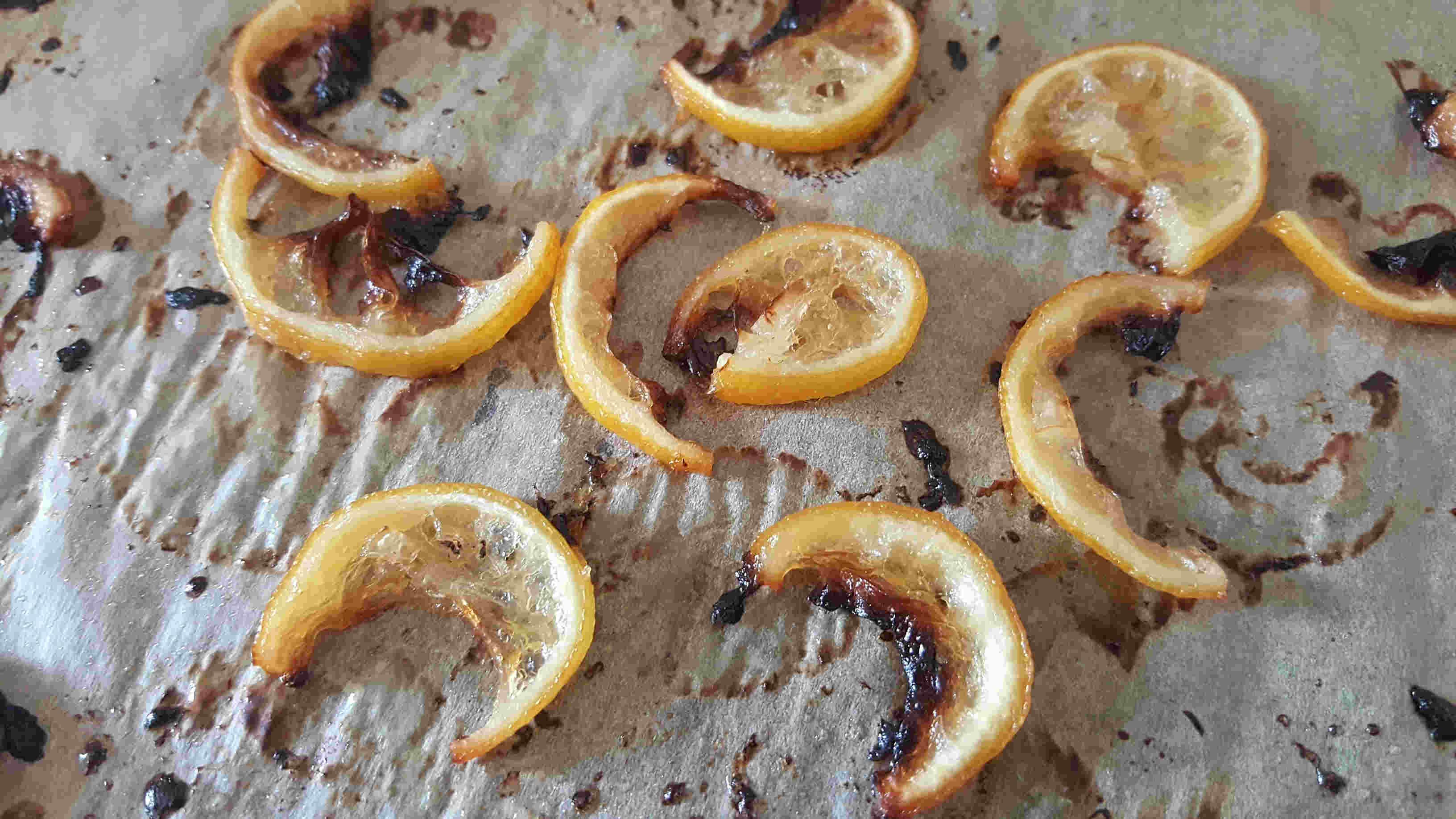 Zitronenscheiben Karamelisiert