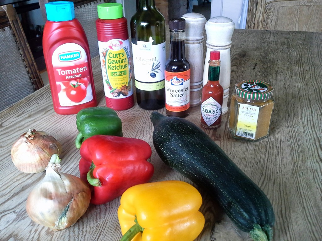 Zucchini Chutney Zutaten