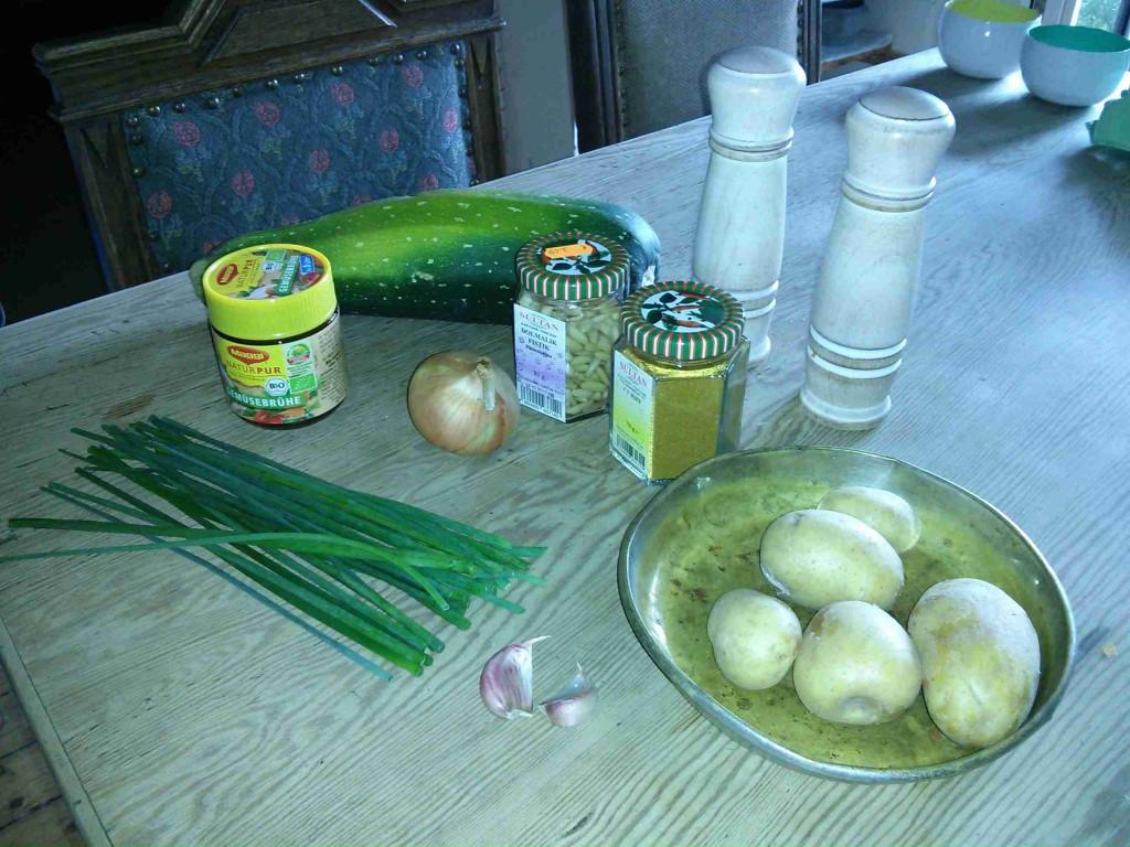 Zucchini Kartoffel Suppe Zutaten