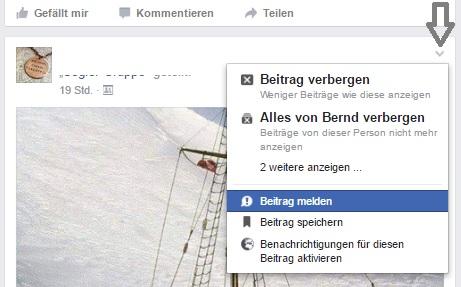 so könnt ihr Beiträge auf facebook melden - facebook fake-news