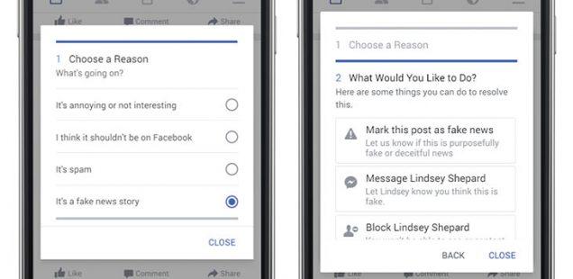 facebook fake news in den USA