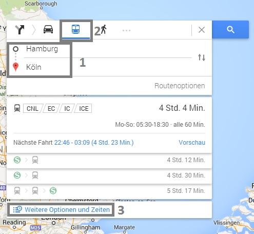 google maps fernbus routenplanung