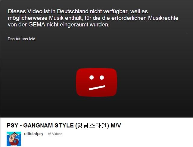 Psy - Gangnam Style und die Gema