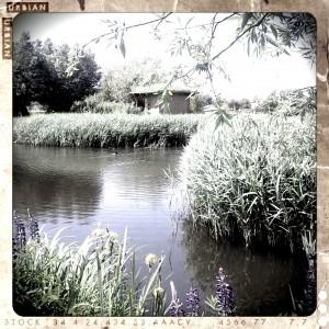 Großer Garten mit See