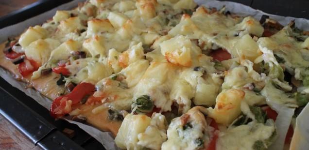 Chinakohl Pizza – vegetarisch