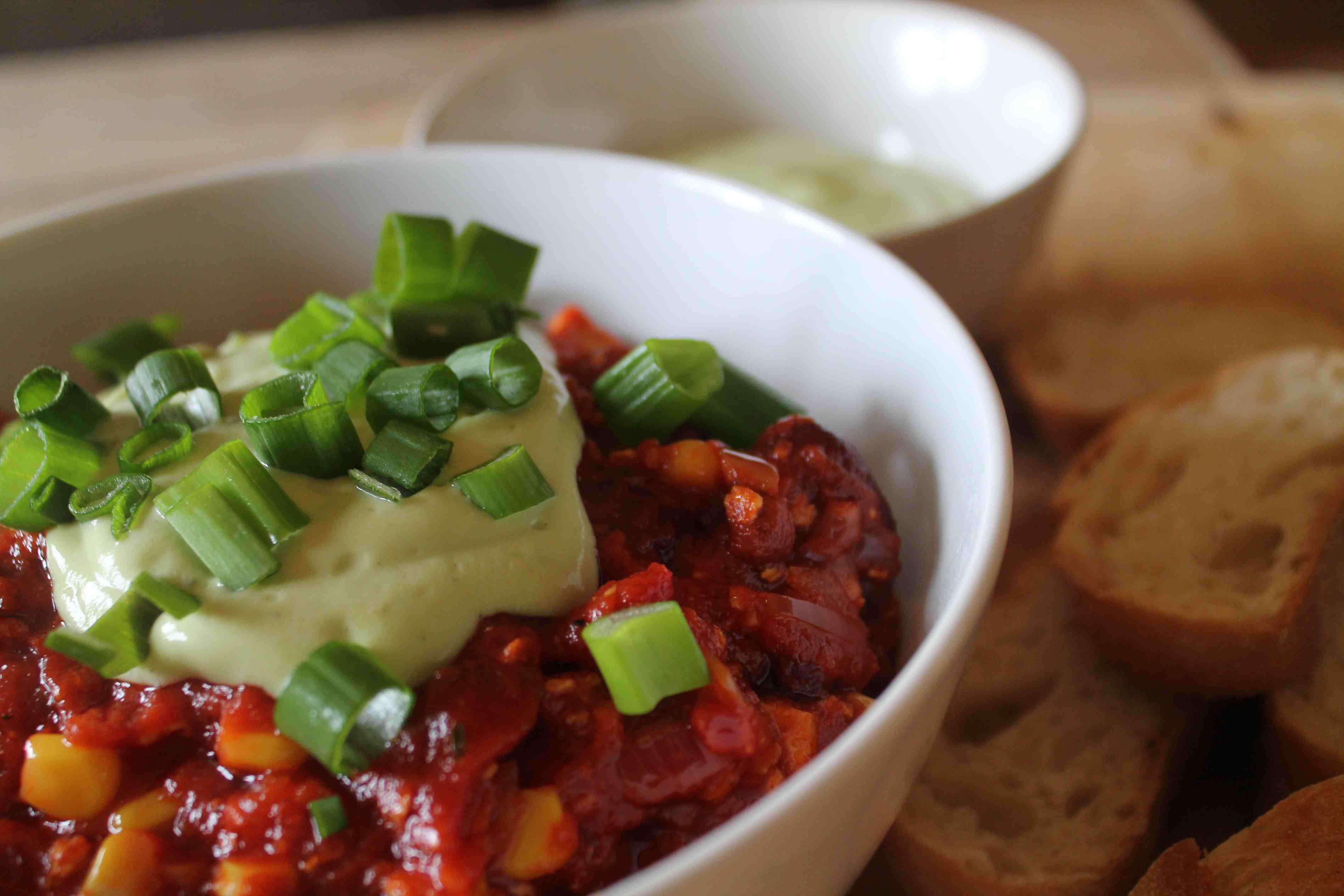 Selbst gemachtes Chili ohne Fleisch
