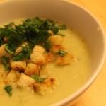Porree-Kartoffel-Creme-Suppe
