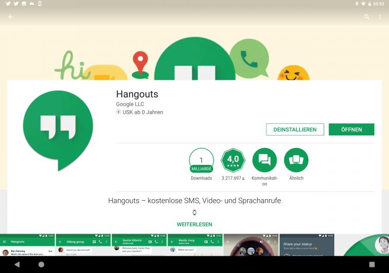 Google Hangout - Noch immer einer der besten Messenger