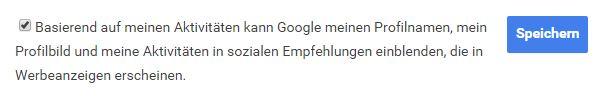 Eure Sozialen Empfehlung auf Google ein- und ausschalten